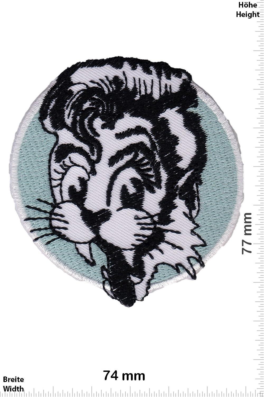 Patch-Iron-Stray Cats Rockabilly - weiss schwarz - - Oldschool - - Iron On Patches - Aufnä her Embleme Bü gelbild Aufbü gler