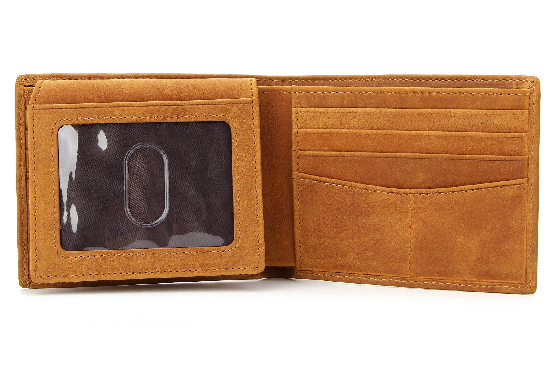 Wardeindesign Men's Leather Wallet Bifold RFID Designer engraved - and leather key fob