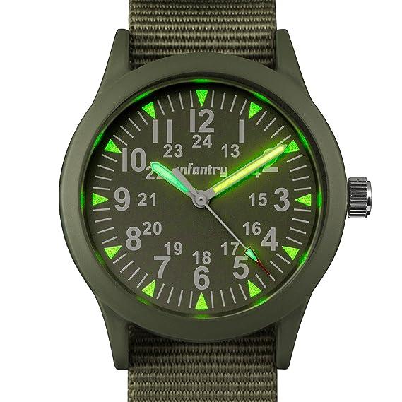 Reloj analógico para hombre de Infantry, reloj deportivo y luminoso, táctico, pequeño dial