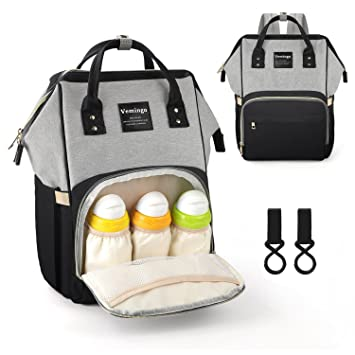 209fc565a46 Amazon.com   Vemingo Diaper Bag Backpack Multi-Function Baby Bag Waterproof  Nappy Bag Large Capacity Travel Organizer Stylish Maternity Bags with  Stroller ...