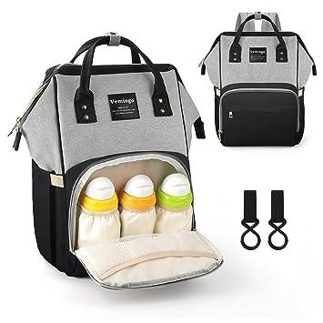 fe4385ad0819e Vemingo Diaper Bag Backpack Multi-Function Baby Bag Waterproof Nappy Bag  Large Capacity Travel...
