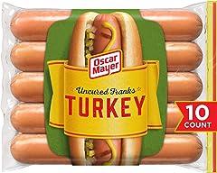 Oscar Mayer Turkey Uncured Franks Hot Dogs (10 ct Pack)