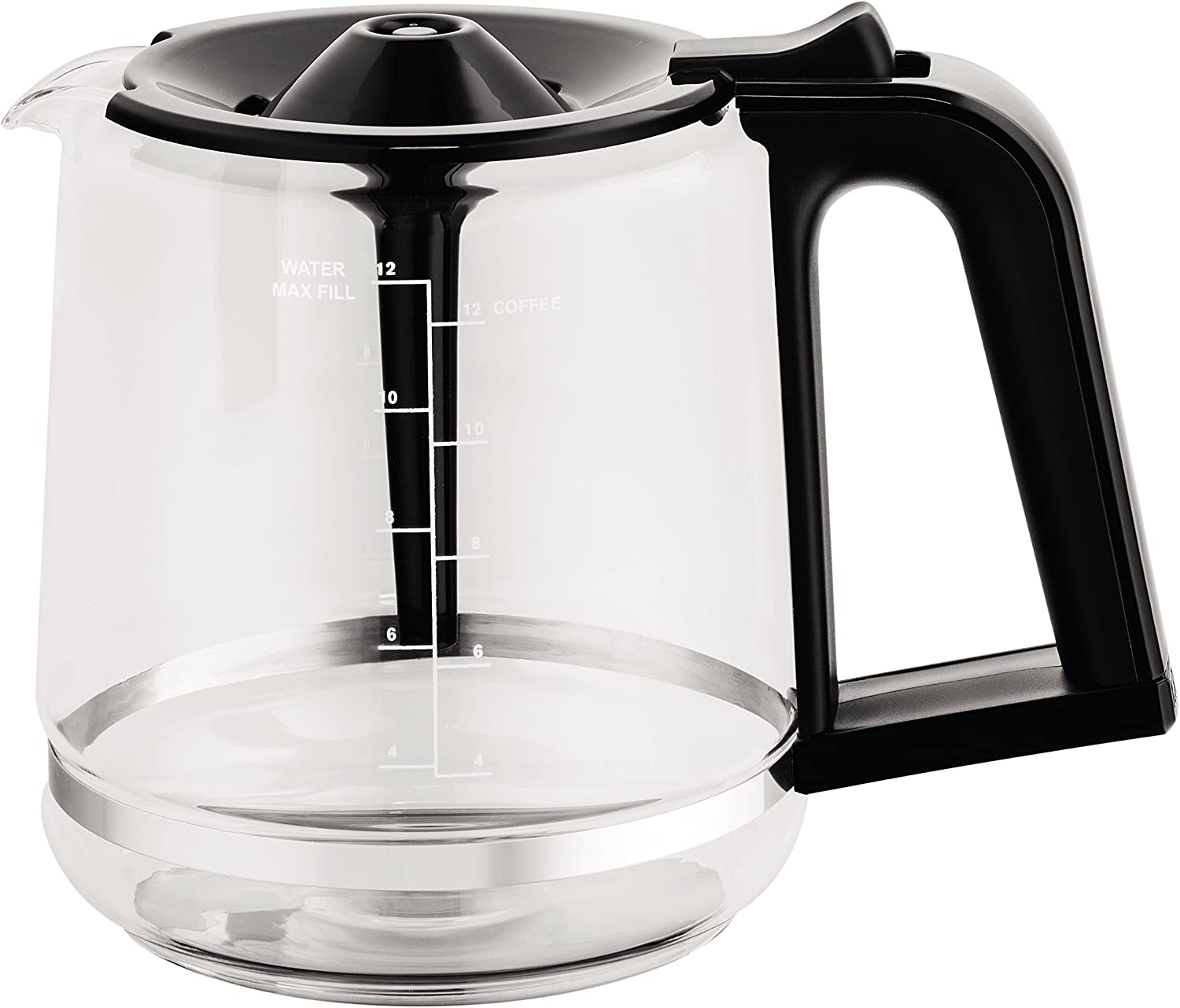 KRUPS XB112050 Replacement Carafe Compatible with EC3110 EC3130 EC3140, Capacity, 12 Glass Cups
