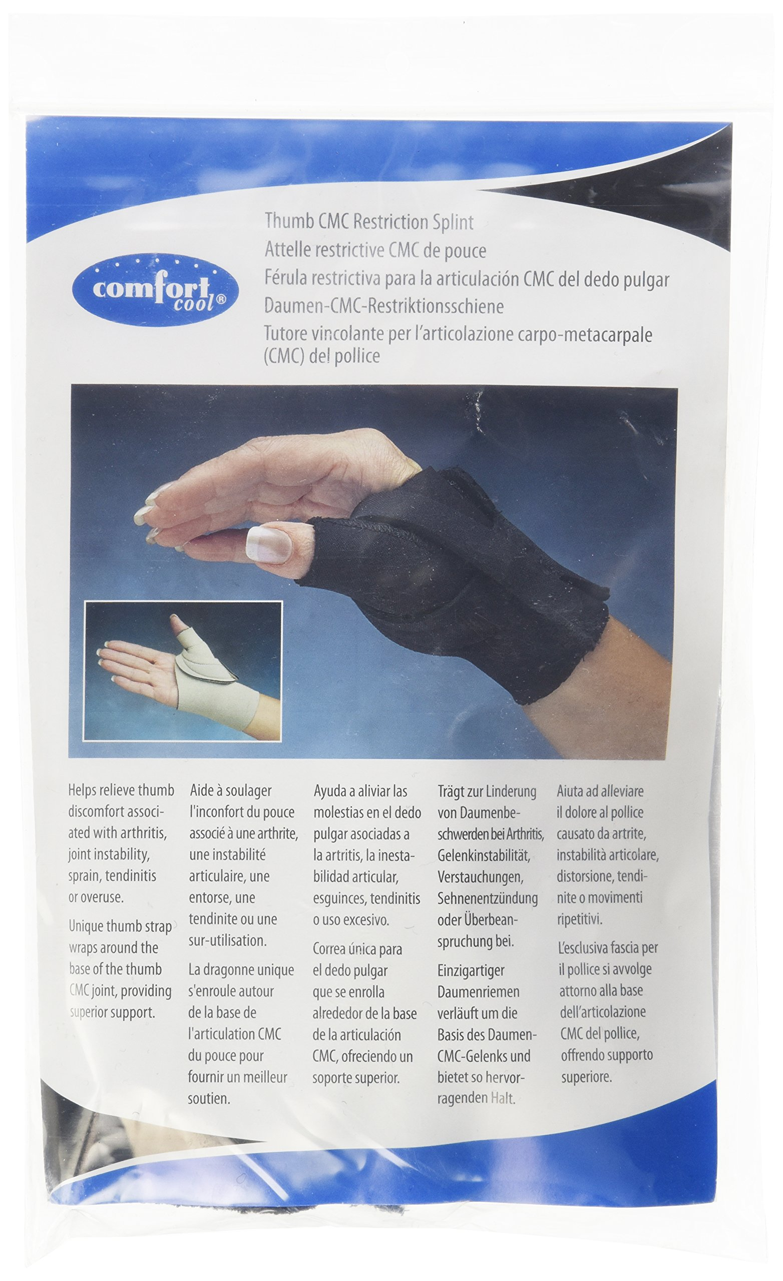 Amazon Com Comfort Cool Arthritis Thumb Splint Black
