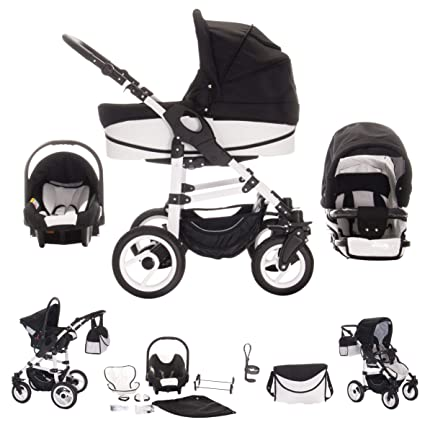 Bebebi Paris - Carrito de bebé 3 en 1, neumáticos de aire ...
