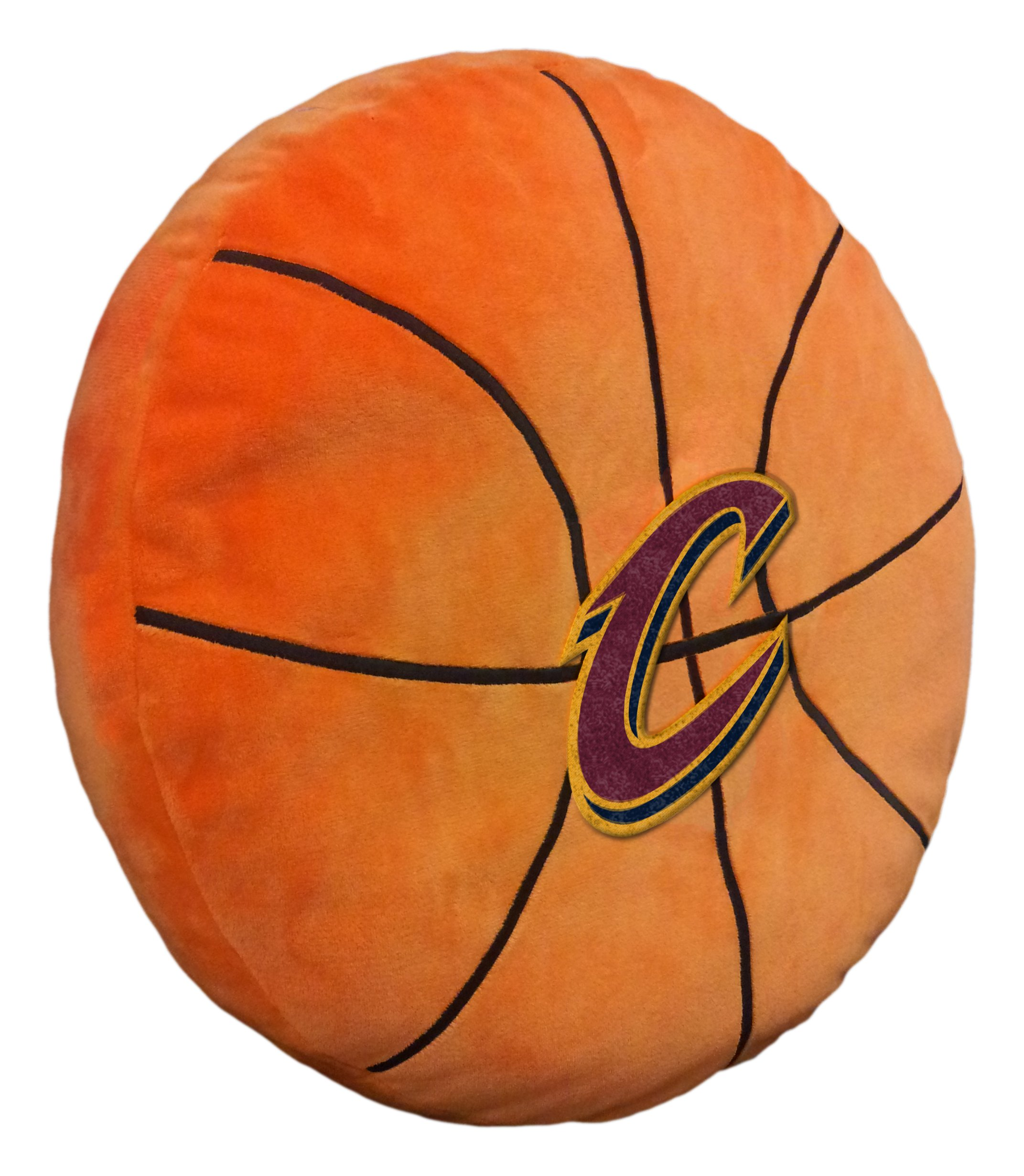 Officially Licensed NBA Cleveland Cavaliers ''3D'' Basketball Shaped Pillow, Orange, 15'' x 15'' x 2'' by The Northwest Company