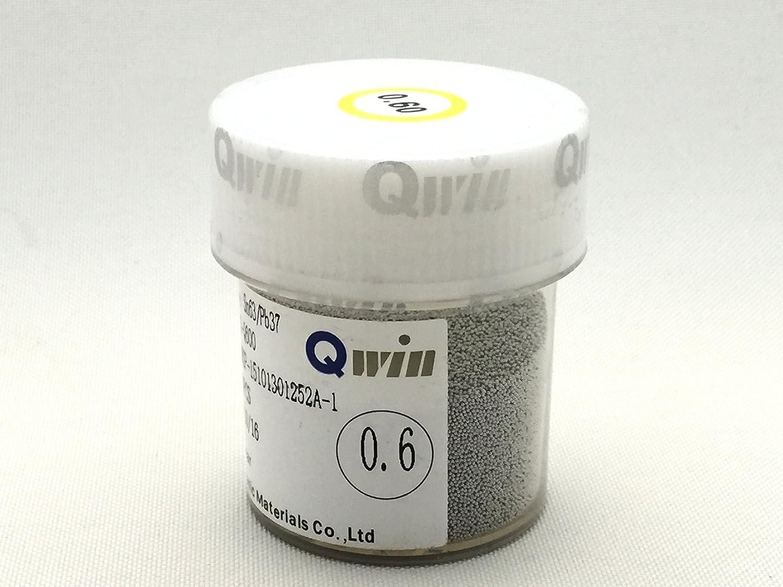 QWIN 半田ボール 250K個 Sn63%Pb37% (0.60mm) BGA リボール リワーク リフロー 修理 [並行輸入品] B018KFZJLQ