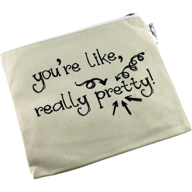 Amazon.com: Positive Messages Bolsa de cosméticos de lona y ...