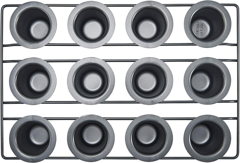 Amazon Com Chicago Metallic Professional Non Stick 12 Cup Mini Popover Pan Kitchen Dining