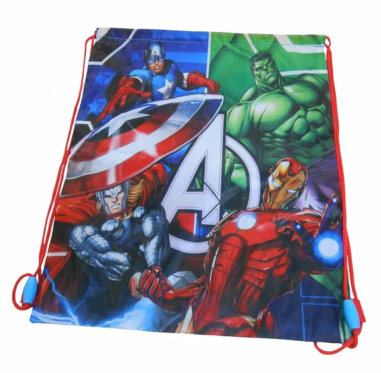Neuf Pour Garçons/Enfants Avengers Sac Gym Avec Illustration à l'avant - Bleu/Multi - TAILLES UK 1-1 EU 17 Marvel CM0109