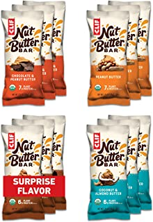 product image for CLIF Nut Butter Bar - Organic Snack Bars - Variety Pack (1.76 Ounce Protein Snack Bars, 12 Count) (Flavors and Packaging May Vary)