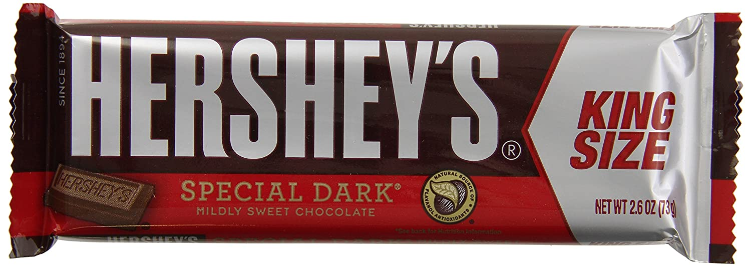 Amazon.com : Hershey's Special Dark Bars with Almonds, 24-Count ...