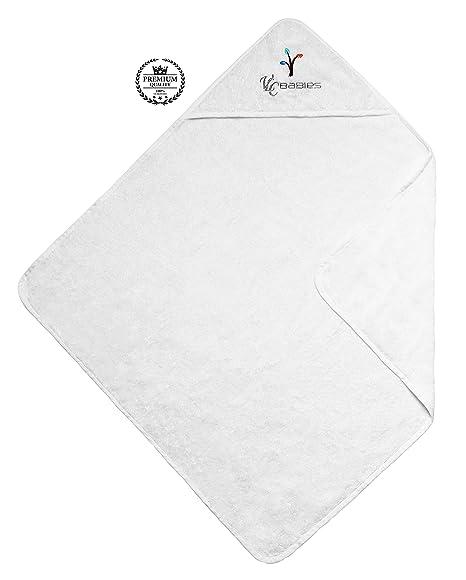 VLC Babies Capa – toalla de baño con capucha, 100% algodón. HECHO EN