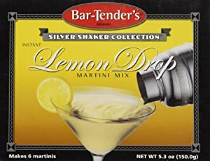 Lemon Drop Bar-Tenders Instant Cocktail Mix: Box - 6 Pouches