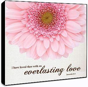 "LACOFFIO Everlasting Love Jeremiah 31:3 Wall Art Décor Plaque 6"" x 6"