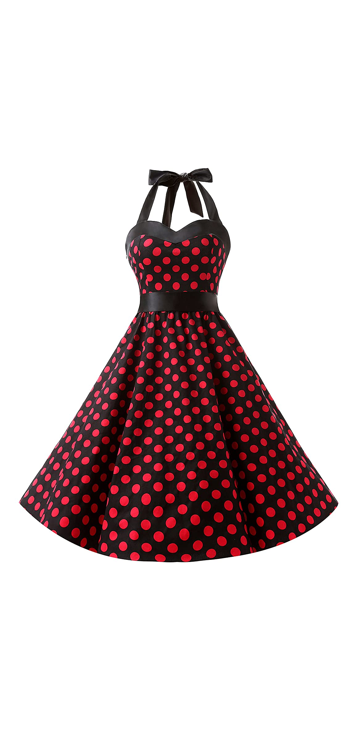 Vintage S Rockabilly Polka Dots Audrey Dress
