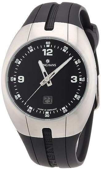 Junghans Explorer 30/4523 - Reloj de caballero de cuarzo, correa de goma color