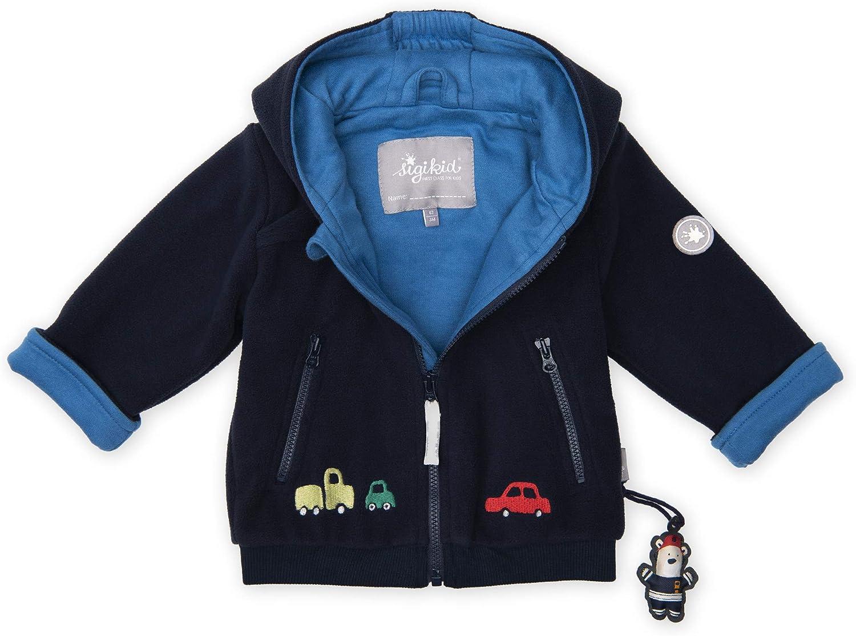 294 Sigikid Baby Fleece Jacke dunkelblau 86