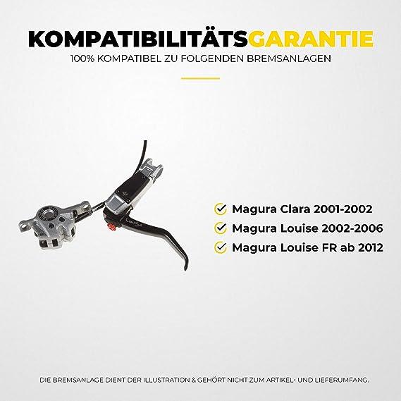 Bremsbeläge Bremsklötze ein Paar semi-metallisch für Magura Louise ab 2007 neu