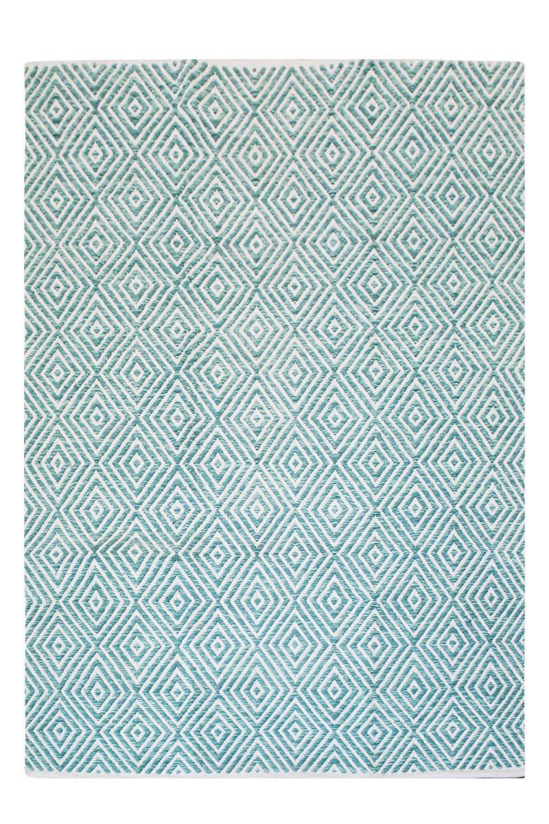 Kayoom Teppich, Stoff, Türkis, 120 x 25 x 25 cm