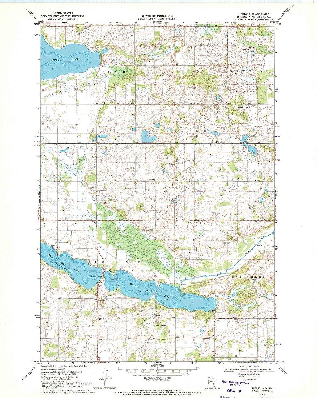 Amazon.com: Minnesota Maps | 1969 Heinola, MN USGS ... on us map north dakota, us map wisconsin, atlas map of minnesota, us map michigan, state map of minnesota, us map illinois, us map south dakota, show map of minnesota,