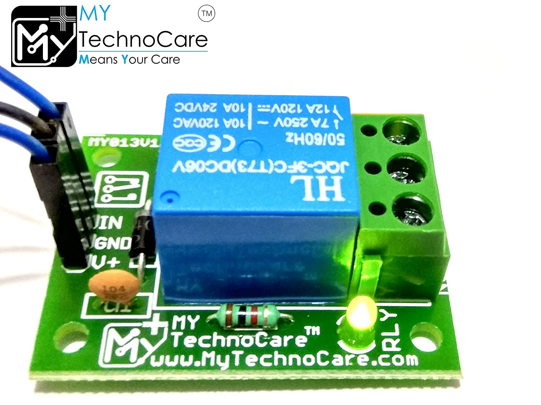 MY TechnoCare 5V 1 Single Relay Board Switch for Arduino uno,Raspberry  Pi,8051,AVR etc Microcontroller