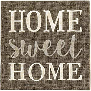 "Dark Gray Paper Luncheon Napkin - Home Sweet Home - 13"" x 13"" - 20 count box - Restaurantware, , , ,"