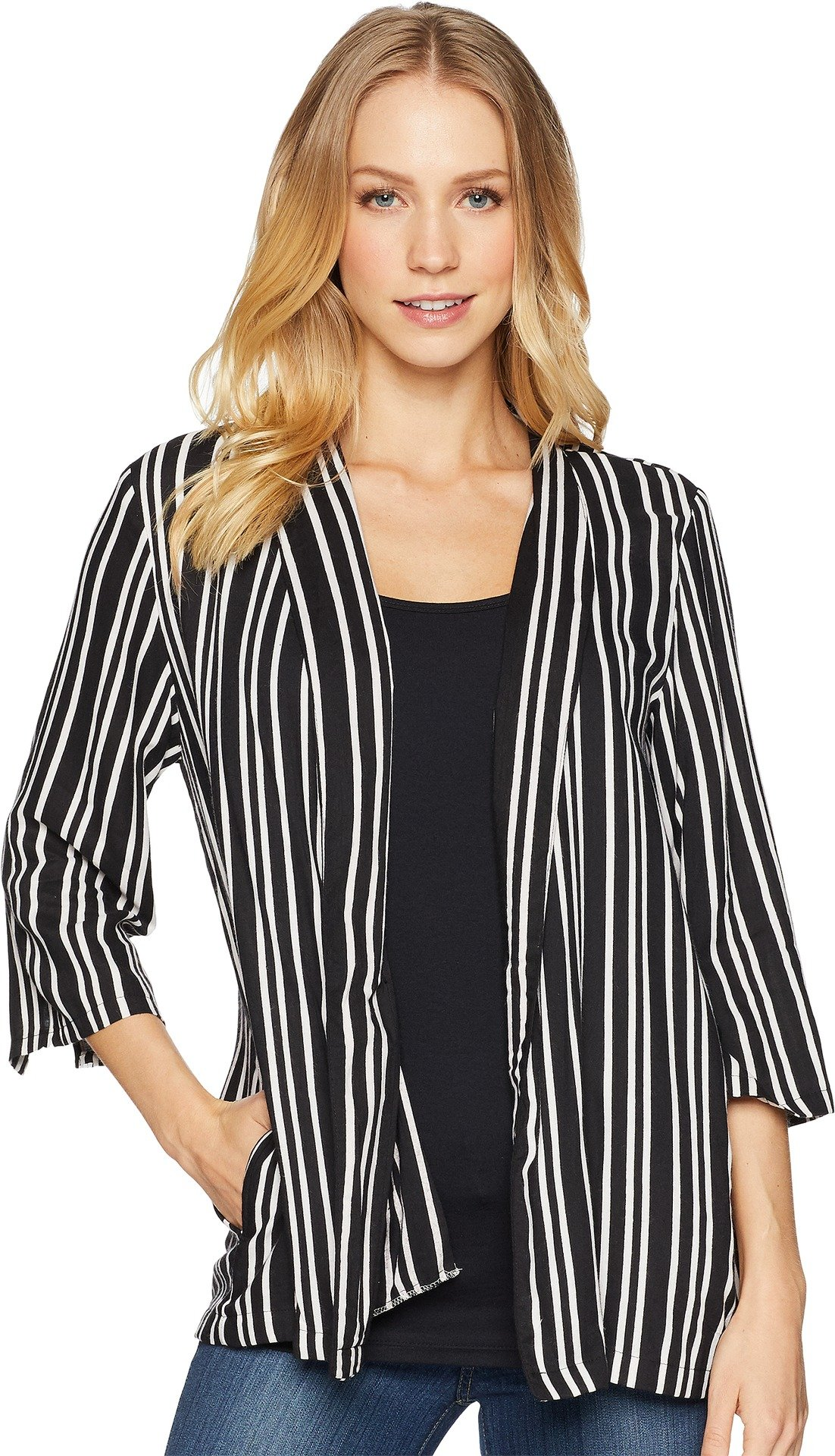 Angie Women's Stripe Blazer Black Small
