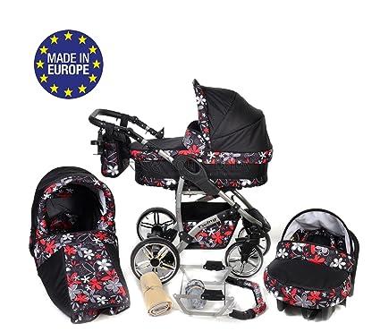 Baby Sportive Twing - Sistema de viaje 3 en 1, silla de paseo, carrito con capazo y silla de coche, RUEDAS GIRATORIAS, parasol y accesorios, color ...