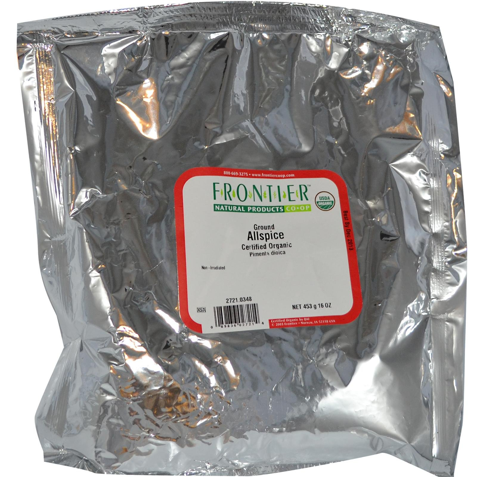 Frontier Herb Organic Allspice Powder, 1 Pound - 1 each.