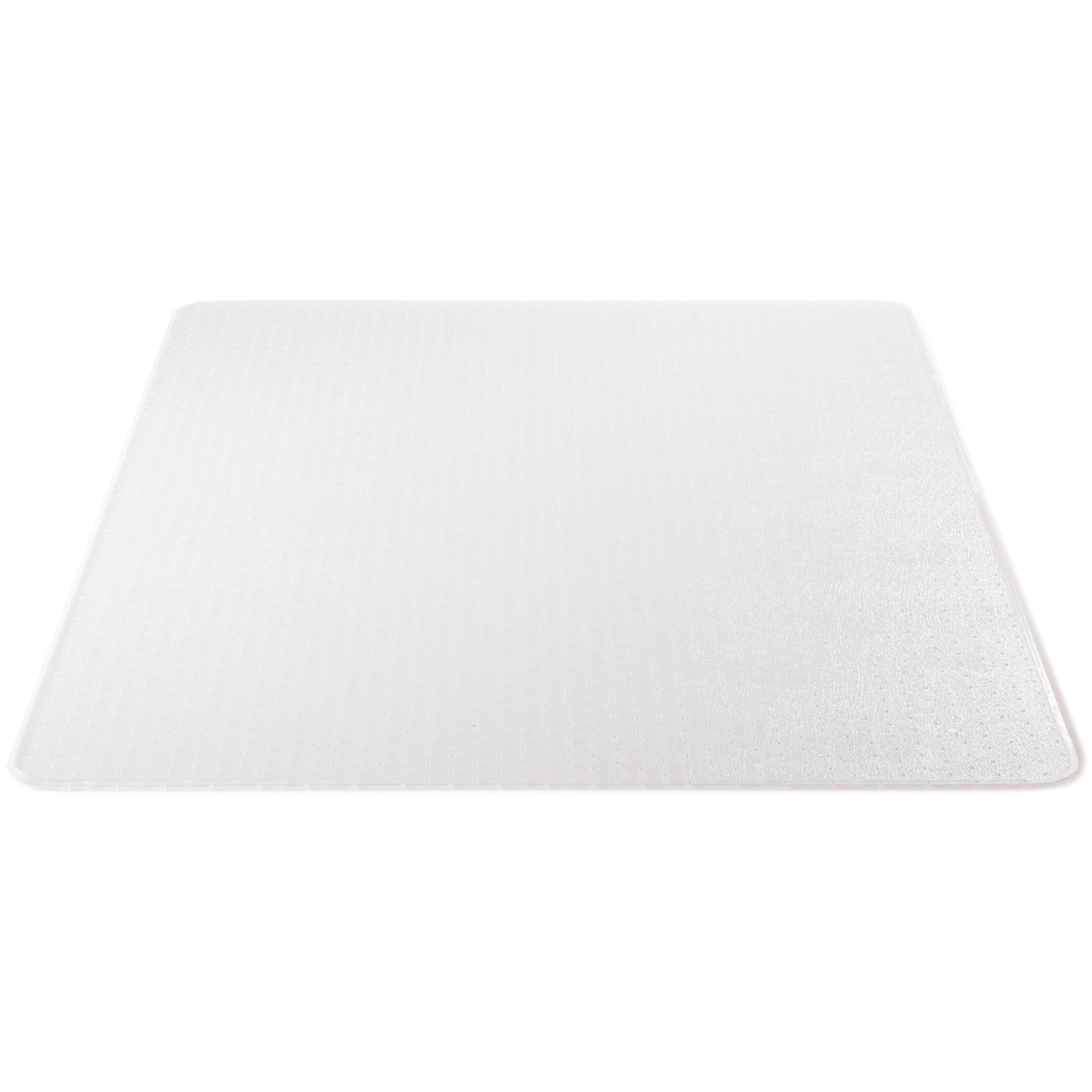 Deflecto DuraMat Clear Chair Mat, Low Pile Carpet Use, Rectangle, Beveled Edge, 46 x 60 Inches (CM13443FCOM)