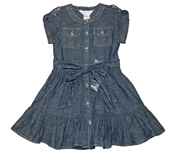 99c2703c8b21 Amazon.com  Ralph Lauren Polo Baby Girls Chambray Dress Set (12 ...