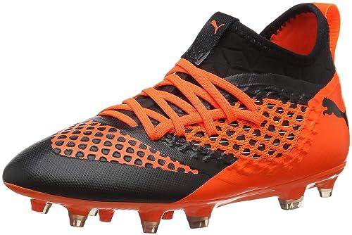 a29e82562 Puma Kids' Future 2.3 Netfit MG Jr Footbal Shoes Black-Shocking Orange 3.5  UK