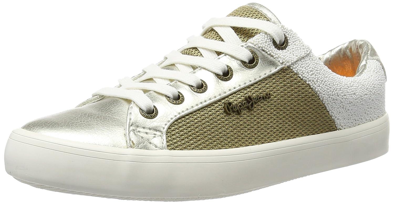 Pepe Jeans Clinton Mesh Gold, Zapatillas para Mujer 37 EU|Dorado (Gold)