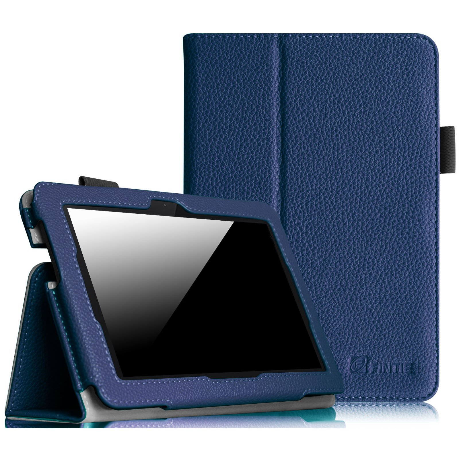 Fintie Folio Case for Fire HDX 7 - Slim Fit Leather Standing Protective Cover with Auto Sleep/Wake (will only fit Kindle Fire HDX 7'' 2013), Navy