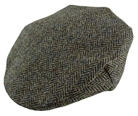 Harris Tweed Mens Classic Brown Herringbone County Cap - Handwoven In  Scotland by Glen Appin ( 9d3a185032db
