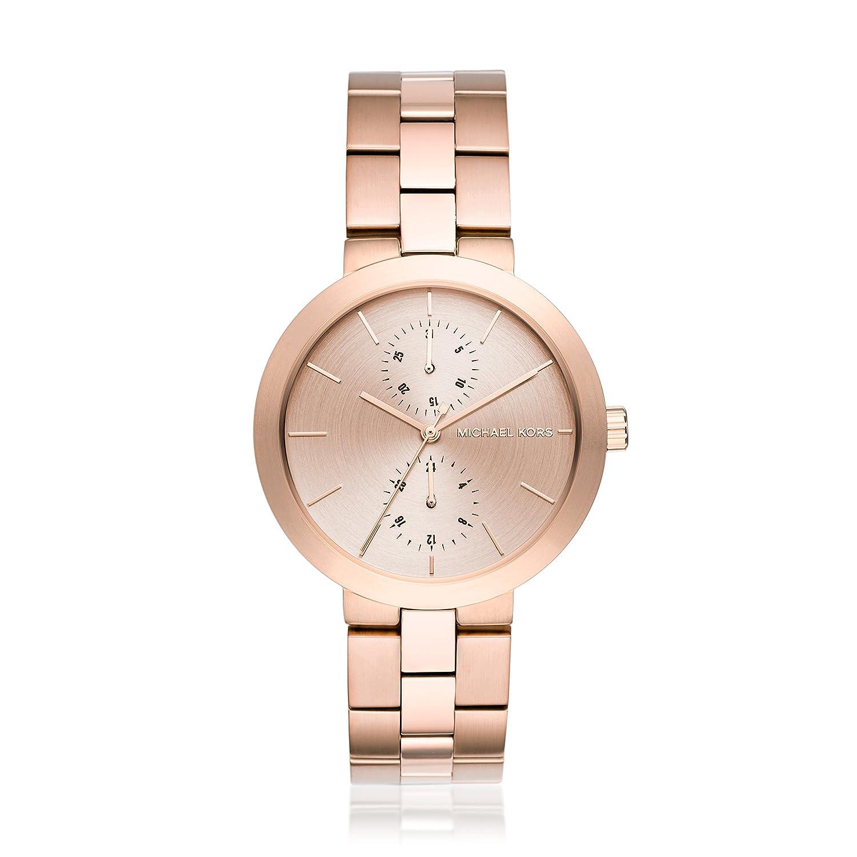 Michael Kors Women s Garner Rose Goldtone Multifunction Watch
