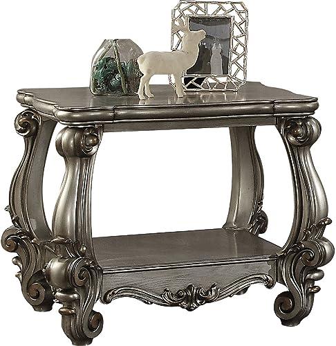 Major-Q 9086822 Antique Platinum Finish Square Shape End Table