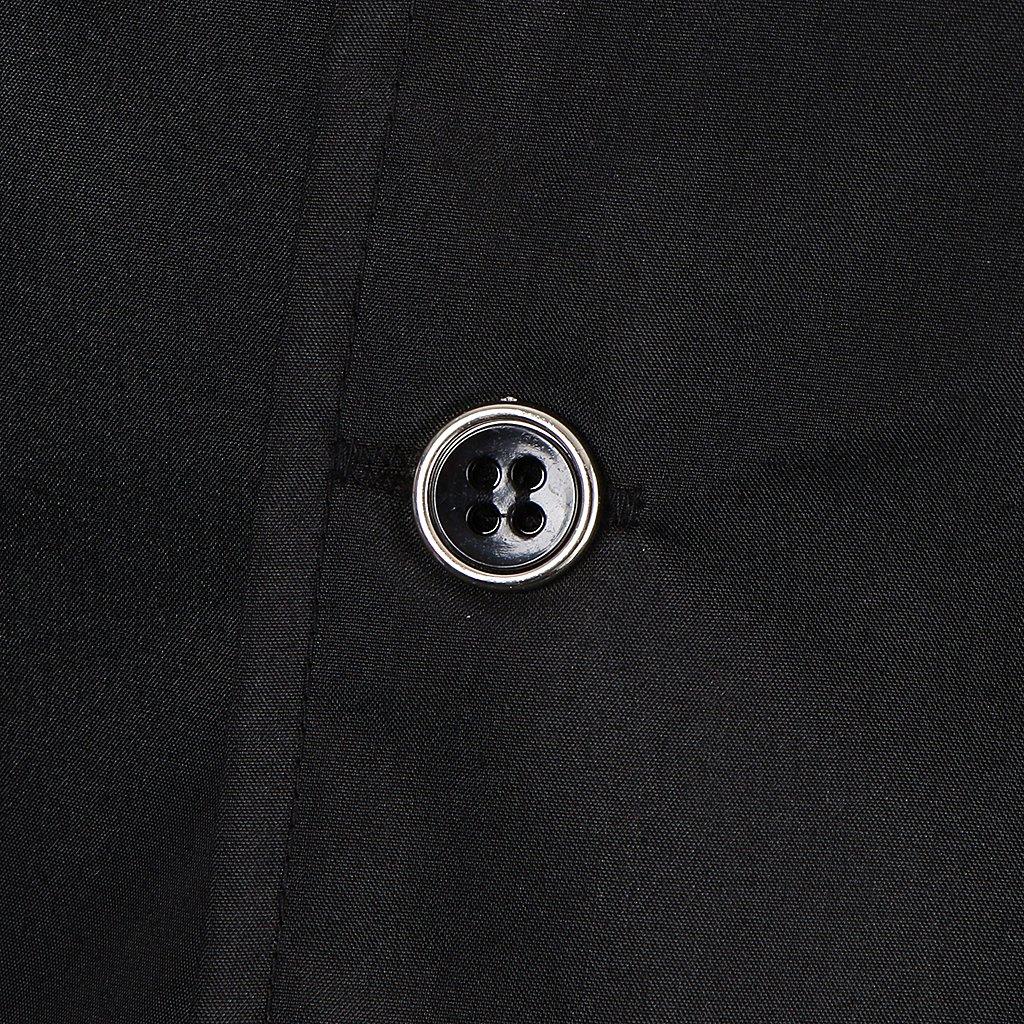 Fenteer Unisex Cappotto Giacche Camicie T-shirt Manica Corta Uniforme da Cuoco Chef