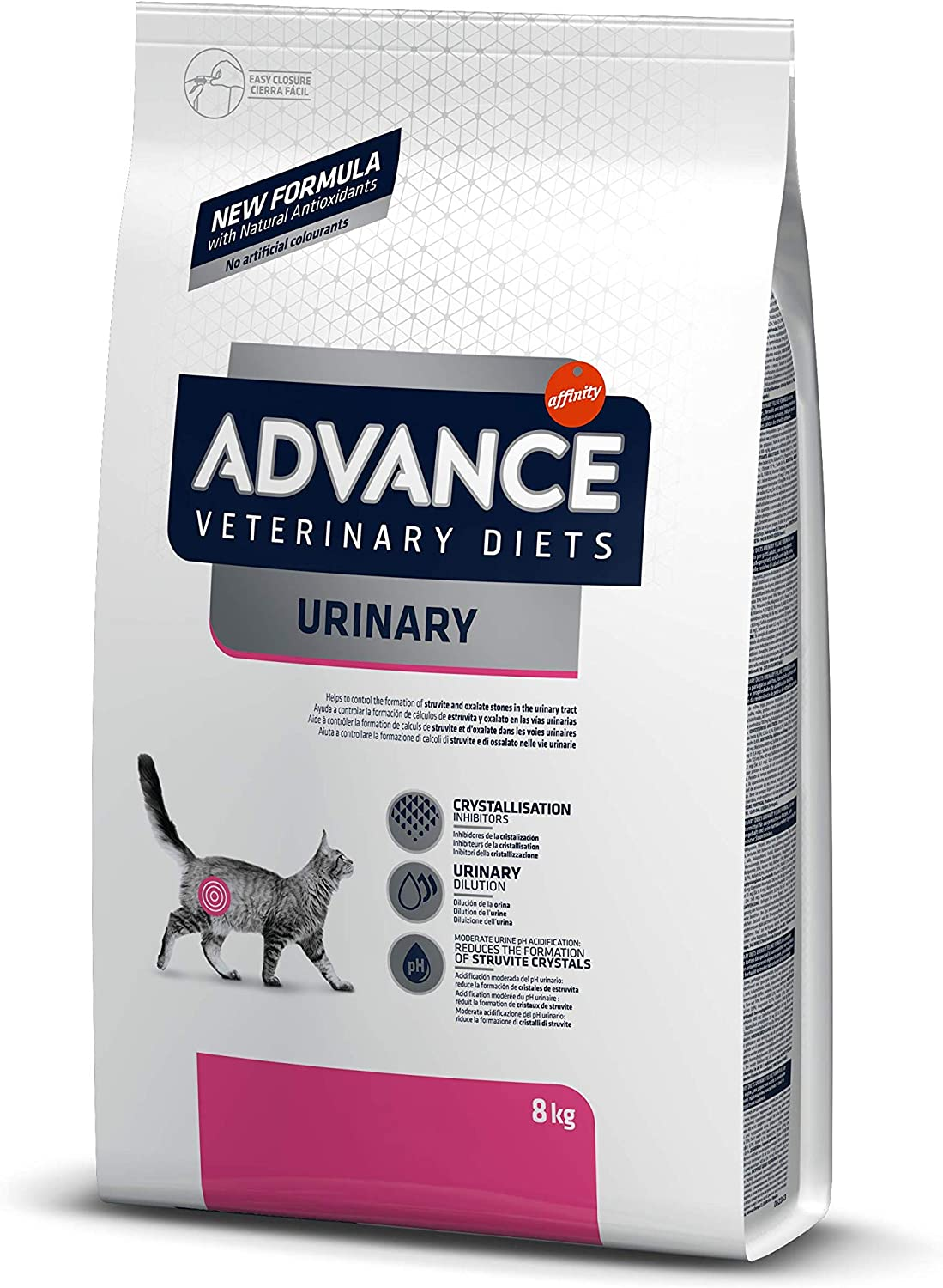 ADVANCE Veterinary Diets Urinary Pienso para Gatos con Problemas Urinarios - 8kg