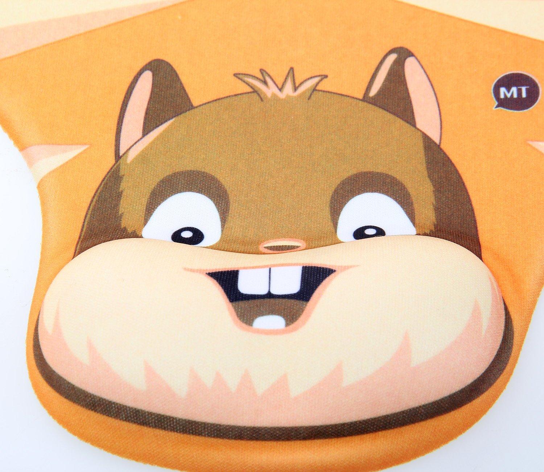 Gel Mouse Pad Tapis de Souris avec Repose-poignets TUKA Design Tapis de souris repose-poignets gel Chat avec gros visage TKC5100 bulkcat