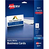 Avery Business Cards for Inkjet Printers, Matte, White