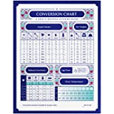 Jot & Mark Chef's Conversion Chart Magnet | Handy Reference of Measurement, Volume, Weight, and Temperature for Baking and Co