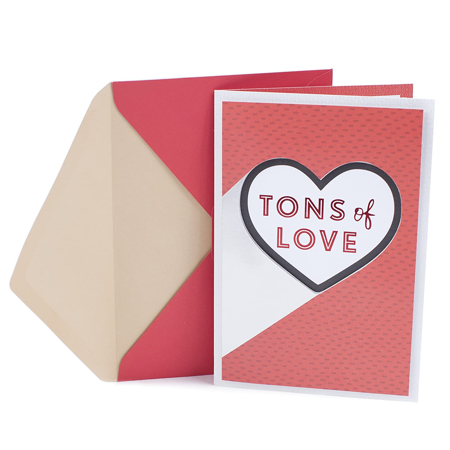 Amazon Hallmark Valentines Day Greeting Card Tons Of Love