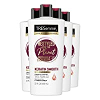 TRESemmé Conditioner Tames and Moisturizes Dry Hair Keratin Smooth with Keratin and Marula Oil Keratin Smooth for Professional Quality Salon-Healthy Look and Silky Smooth Hair 22 oz 4 Count