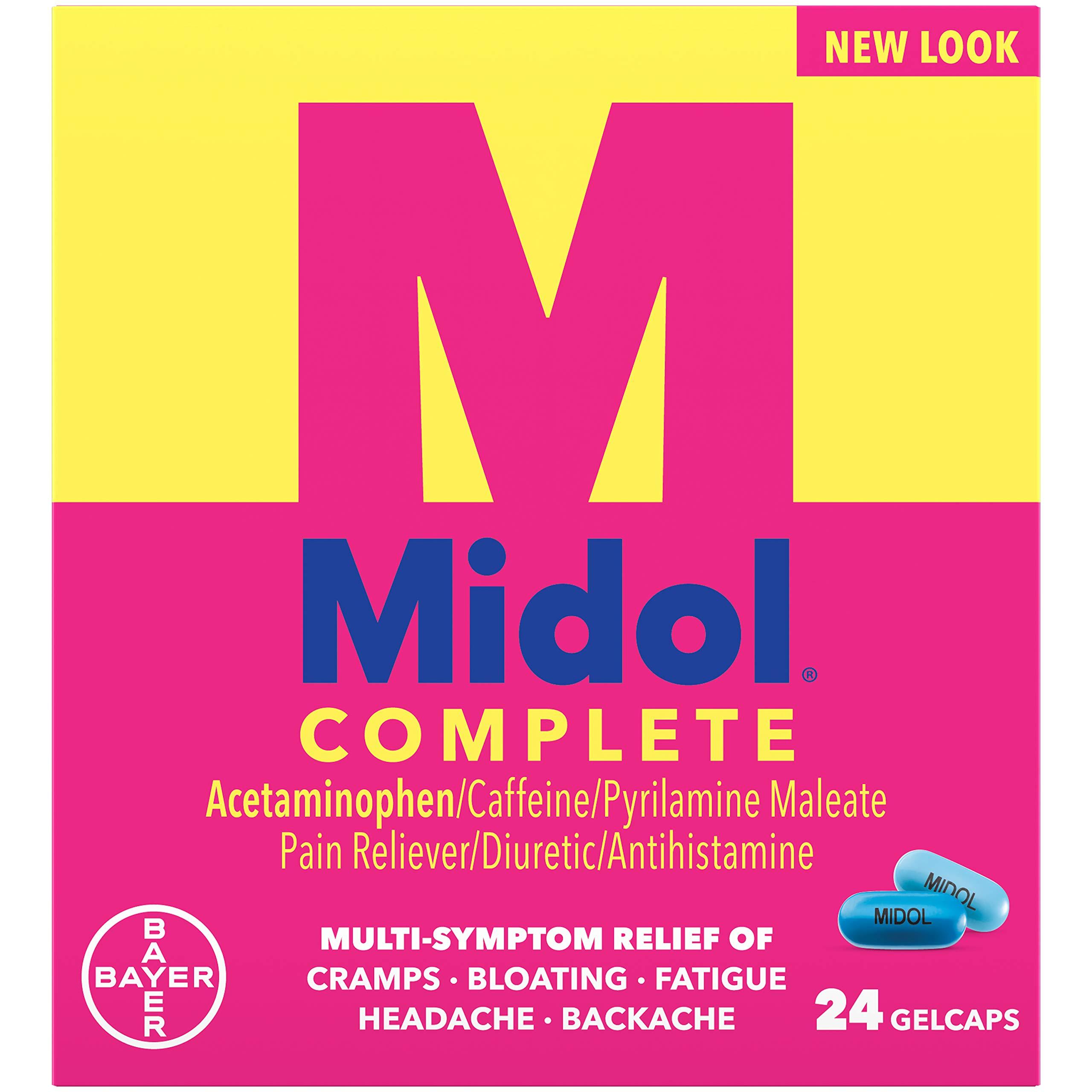 Midol Menstural Complete, Gelcaps, 24 ct