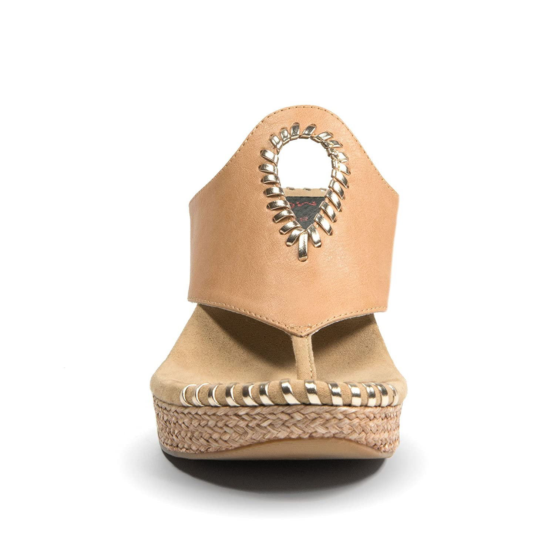 90332d3471f Modzori Lucia Women s Mid Wedge Reversible Twister Sandal (9 M US ...