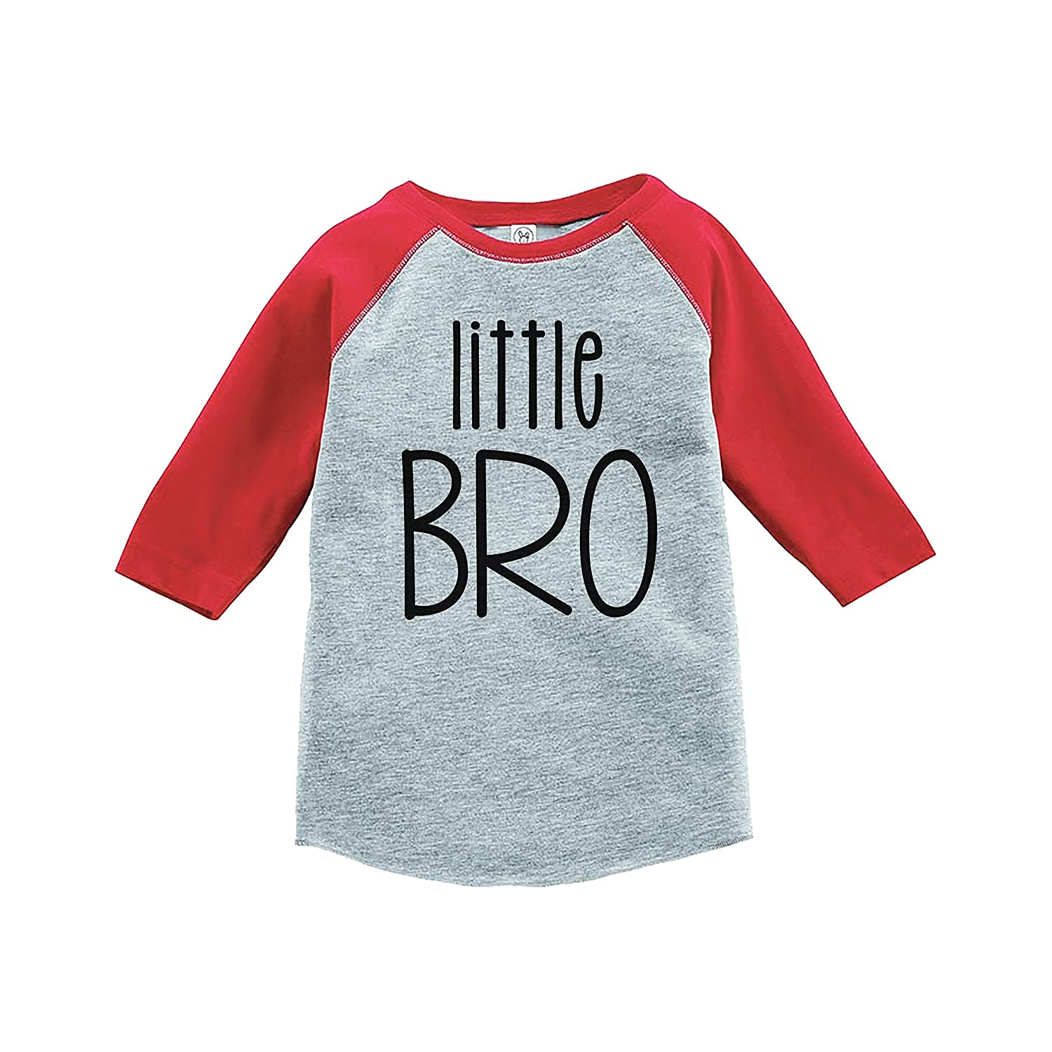 7 ate 9 Apparel Boys Little Brother Red Baseball Tee
