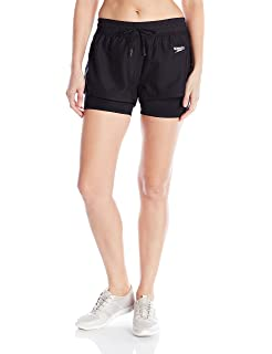 78a334c9e4 Speedo Women's Hydro Volley Workout Shorts with Built-in Compression Jammer