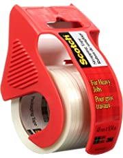 """Scotch Strapping Tape, 1.8"""" x 9m, 1 Roll with Dispenser, Strong Packing Tape"""